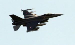 Dönsk F-16 orrustuþota.