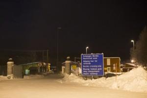 Landamærastöðin Storskog, hin eina á landamærum Rússlands og Noregs.