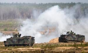 NATO-heræfing í Litháen.
