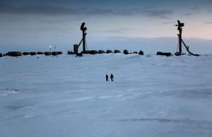 Rússnesk herstöð við Norður-Íshaf.