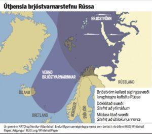 Þetta kort var gert fyrir grein í Morgunblaðinu 10. mars sl.