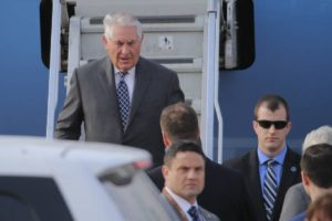 Rex Tillerson kemur til Moskvu.