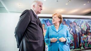 Horst Seehofer og Angela Merkel.