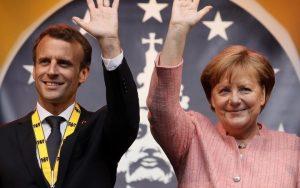 Emmanuel Macron og Angela Merkel.