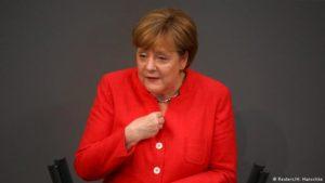 Angela Merkel í þýska þinginu,