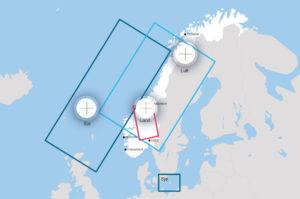 Flotaæfingasvæði Trident Juncture.