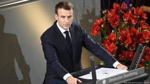 Emmanuel Macron í þýska þinginu.
