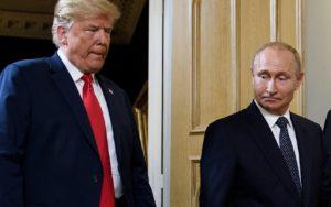 Donald Trump og Valdimir Pútín.