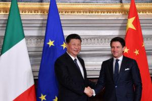 Xi Jinping Kínaforseti og Giuseppe Conte, forsætisráðherra Ítalíu.