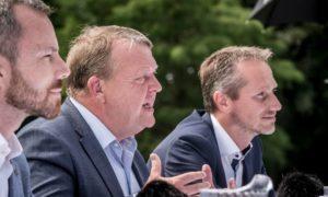 Lars Løkke Rasmussen og Kristian Jensen - þeir hafa báðir boðað afsögn sína sem formaður og varaformaður.
