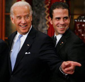 Joe Biden og sonur hans Hunter - myndin tekin 2009.