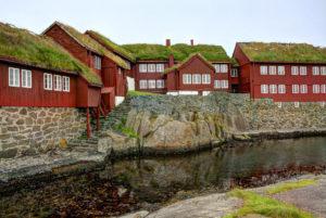 Tinganes, stjórnarsetur Færeyinga í Þórshöfn.