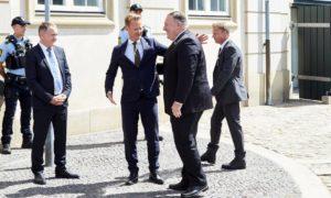 Jeppe Kofod utanríkisráðherra og Mike Pompeo utanríkisráðherra 22. júlí 2020.