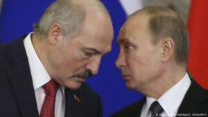 Aleksander Lukasjenko og Vladimir Pútin.